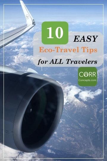 10 Easy Eco-Travel Tips for ALL Travel Pinterest Pin