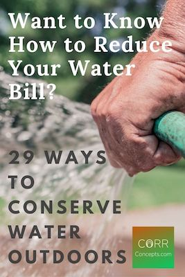 Ways to Conserve Water Outside Pinterest pin