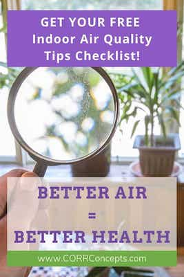 Reduce Indoor Air Pollution tips Pinterest image