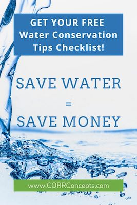 Conserve Water Tips Pinterest image