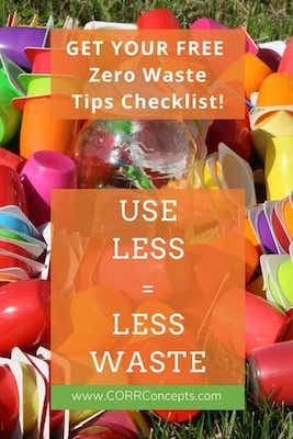 Zero Waste tips Pinterest image