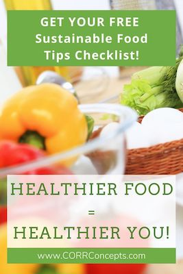 Sustainable Food Tips Pinterest pin