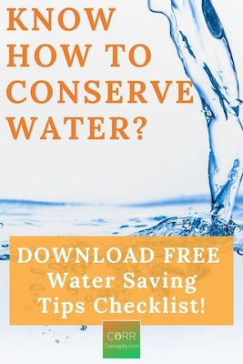 How to Conserve Water Tips Pinterest pin