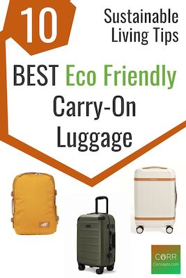 Best Eco-friendly Carry-On Luggage Pinterest pin