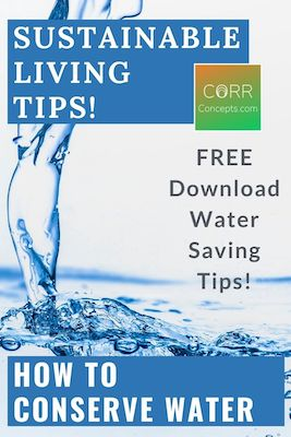 How to Conserve Water Tips for Sustainable Living Pinterest pin