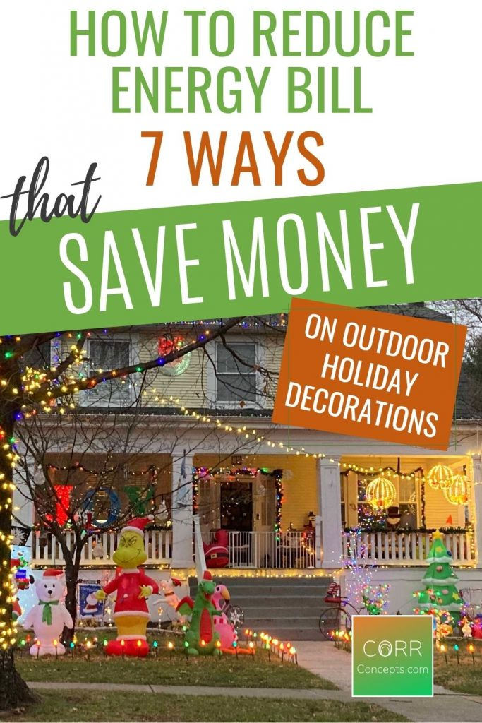 Save Energy with Outdoor Holiday Decorations