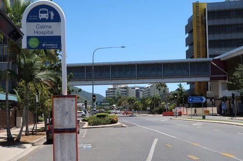 Bus stop Cairns Australia