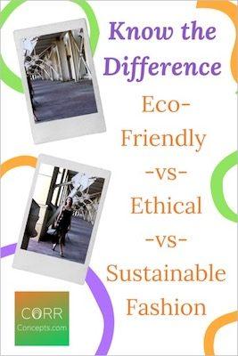 Eco-Friendly, Ethical and Sustainable Fashion Explained Pinterest image