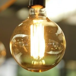 Lighted Light Bulb in Selective-focus Photography