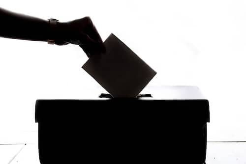 Person casting ballot can vote to Reduce Air Pollution from Vehicles on ballot measures