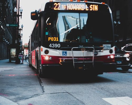 Public transportation bus Reduces Air Pollution from Vehicles