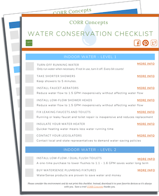 Conserve Water Checklist download image