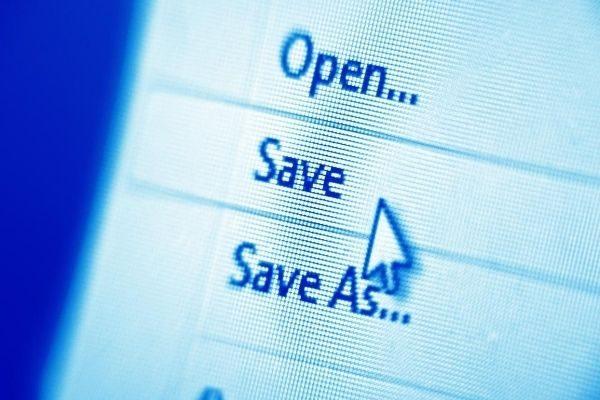 Cursor clicking Save button saves energy