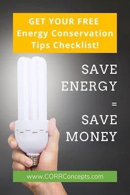 Energy Conservation Tips Pinterest image