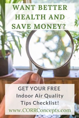 Indoor Air Quality Tips Pinterest image