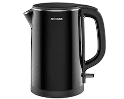 Miroco 1.5L Double Wall 100% Stainless Steel BPA-Free Cool Touch Tea Kettle
