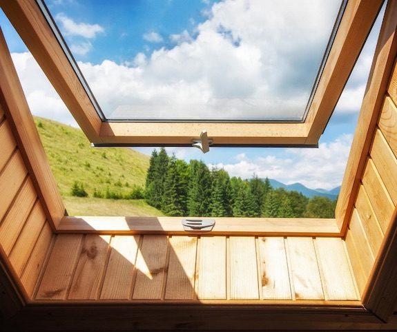 Open skylight window
