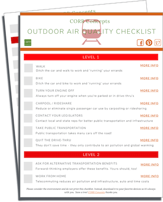Outdoor Air Quality Checklist image