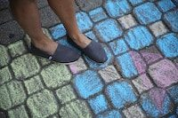 Person Wearing Blue Flat Shoes | Footwear – Sustainable Fashion Products - Conscious Consumer_Sustainable Fashion