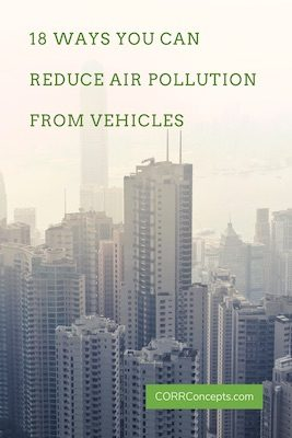 18 Ways to Reduce Air Pollution from Vehicles - Pinterest image