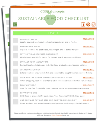 Sustainable Food Checklist image