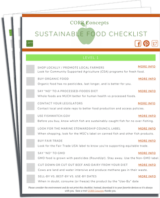 Sustainable Food Checklist image