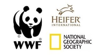 WWF, Heifer and National Geographic logos